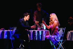 Rob Mills as Warner and Lucy Durack as Elle in LEGALLY BLONDE