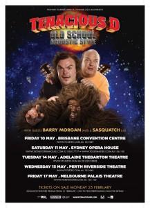 tenacious d australian tour poster
